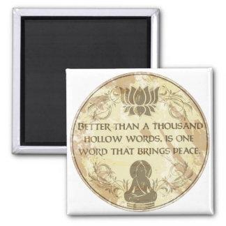 Hohle Wörter Buddhas Quadratischer Magnet