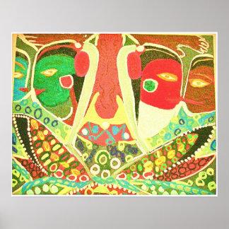Höhlen-Art - Stammes- Liebe-Malen Poster
