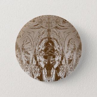 Höhlen-Art-VINTAGES Goldmuster Runder Button 5,1 Cm