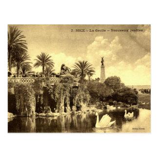 Höhlen-Gärten, Nizza Frankreich 1910 Vintag Postkarte