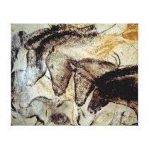 Höhlen-Malerei der Pferde auf Leinwand Gespannter Galeriedruck