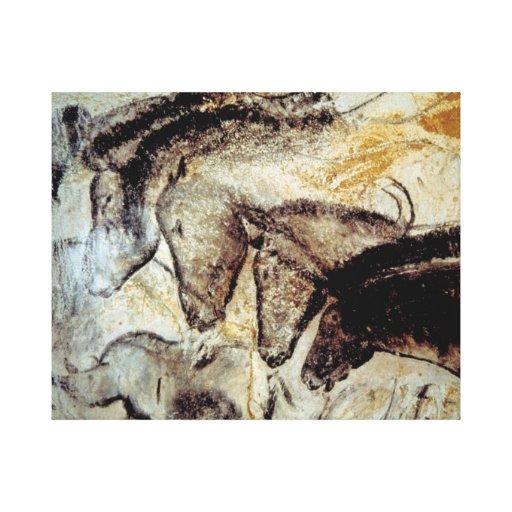 Höhlen-Malerei der Pferde auf Leinwand Gespannte Galeriedrucke