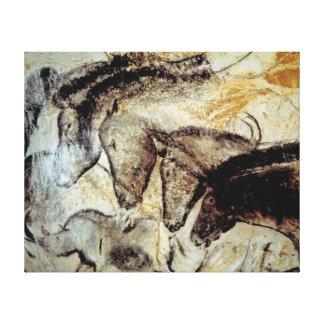 Höhlen-Malerei der Pferde auf Leinwand Galerie Gefaltete Leinwand