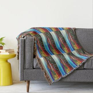 Höhlen-Nebenfluss-abstrakte Landschaftsthrow-Decke Decke