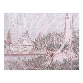 Höhlen-Standort-Plan Postkarte