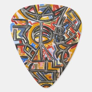 Höhlen-Symbole - abstrakte Kunst handgemalt Plektron