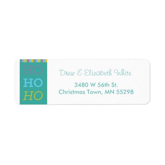 HOHOHO Feiertags-Aufkleber Rücksendeetiketten