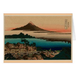 Hokusai Ansicht vom Fujisan Karte