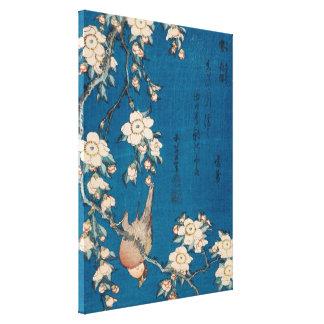 Hokusai Bullfinch und weinende Kirsche GalleryHD Leinwanddruck