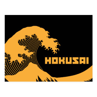 Hokusai - die große Welle Postkarte