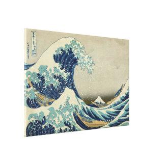 Hokusai die große Welle weg von Kanagawa GalleryHD Leinwanddruck