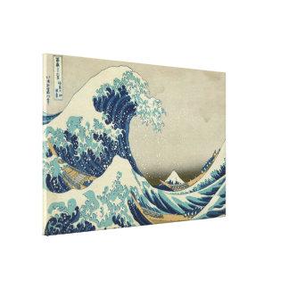 Hokusai große Welle weg von Kanagawa Vintages Leinwanddruck