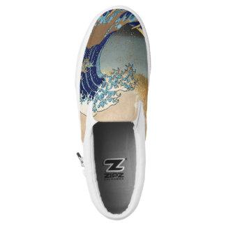 Hokusai große Wellen bei Kanagawa Slip-On Sneaker