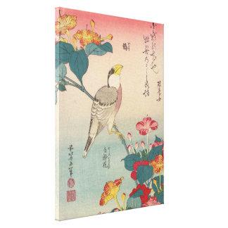 Hokusai Hawfinch und Wunder-von-Peru GalleryHD Leinwanddruck