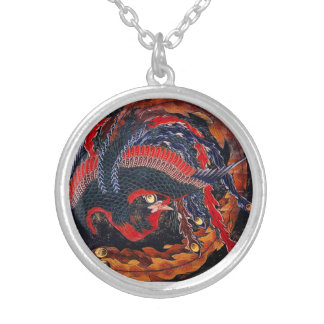 Hokusai Japaner-Phoenix-Halskette Halskette Mit Rundem Anhänger