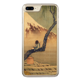 Hokusai Junge, der der Fujisan-japanisches Carved iPhone 8 Plus/7 Plus Hülle