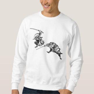 Hokusai manga Samurais 2 Sweatshirt