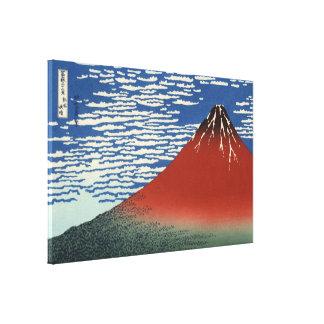 Hokusai rotes Fuji, Südwind, klarer Himmel Leinwanddruck