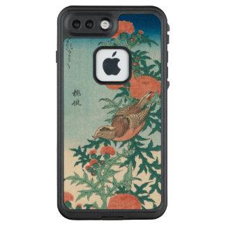 Hokusai Shrike und gesegnete Distel GalleryHD LifeProof FRÄ' iPhone 8 Plus/7 Plus Hülle