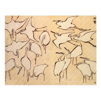 Hokusai streckt Postkarte