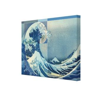 Hokusai trifft Fibonacci, goldenes Verhältnis Leinwanddruck