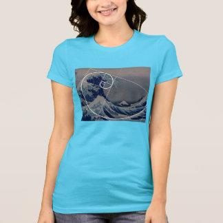 Hokusai trifft Fibonacci, goldenes Verhältnis T-Shirt