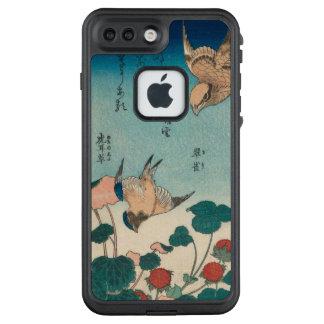 Hokusai Vintages Shrike und Drossel GalleryHD LifeProof FRÄ' iPhone 8 Plus/7 Plus Hülle