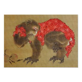 """Hokusais """"Affe-"""" Einladung 12,7 X 17,8 Cm Einladungskarte"""