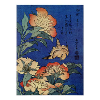 "Hokusais ""das Plakat Blumen"
