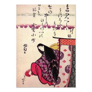 """Hokusais """"Poetess Ononokomatschi"""" Einladung"""