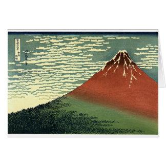 """Hokusais Südwind, klarer Himmel oder """"rotes Fuji """" Karte"""