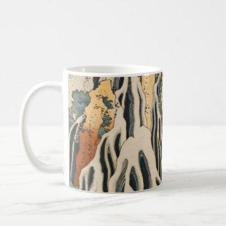 Hokusais Wasserfälle Kirifuri Kaffeetasse