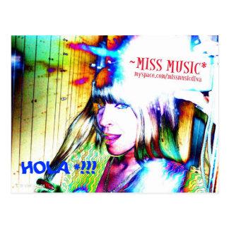 HOLA!! (KAMERA-ZEIT MIT FRÄULEIN MUSIC* Postkarte