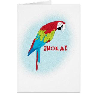 hola Papagei Karte