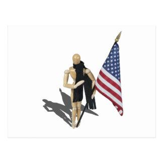 HoldingAmericanFlagHandHeart090912.png Postkarte