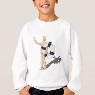 HoldingLifePreserver081212.png Sweatshirt