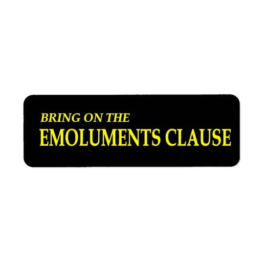 Holen Sie auf die Vergütungs-Klausel-Aufkleber Rückversand-Adressaufkleber