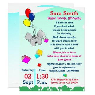 Holen Sie eine Buch-Babyparty Karte