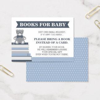 Holen Sie eine Buch-Karte, kleinen Mann, Teddybär Visitenkarte