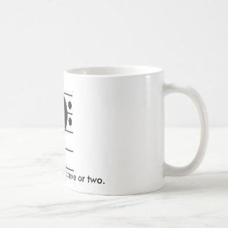 Holen Sie es hinunter eine Oktave Kaffeetasse