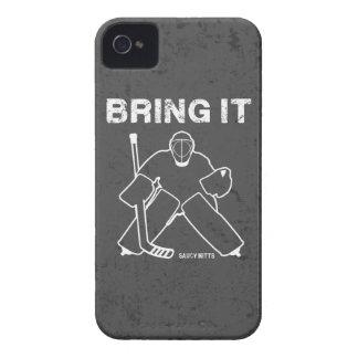 Holen Sie ihm Hockey-Tormann iPhone 4 Etuis