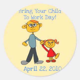 Holen Sie Ihr Kind, Tag zu bearbeiten 2010 Runder Aufkleber