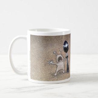 holen Sie nie einen Löffel zu einem forkfight Kaffeetasse