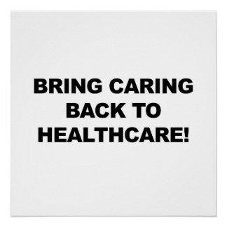 Holen Sie sich kümmerte zurück zu Gesundheitswesen Poster