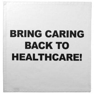 Holen Sie sich kümmerte zurück zu Gesundheitswesen Stoffserviette