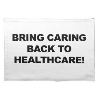 Holen Sie sich kümmerte zurück zu Gesundheitswesen Stofftischset