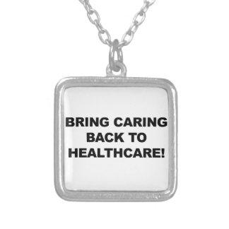Holen Sie sich kümmerte zurück zu Gesundheitswesen Versilberte Kette