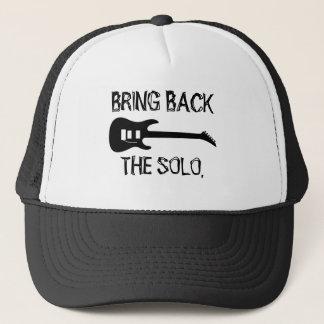 Holen Sie zurück die Solo- Gitarren-Musik Truckerkappe