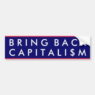 Holen Sie zurück Kapitalismus Auto Aufkleber