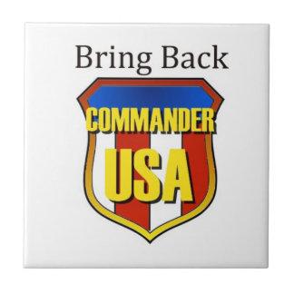 Holen Sie zurück Kommandanten USA Fliese